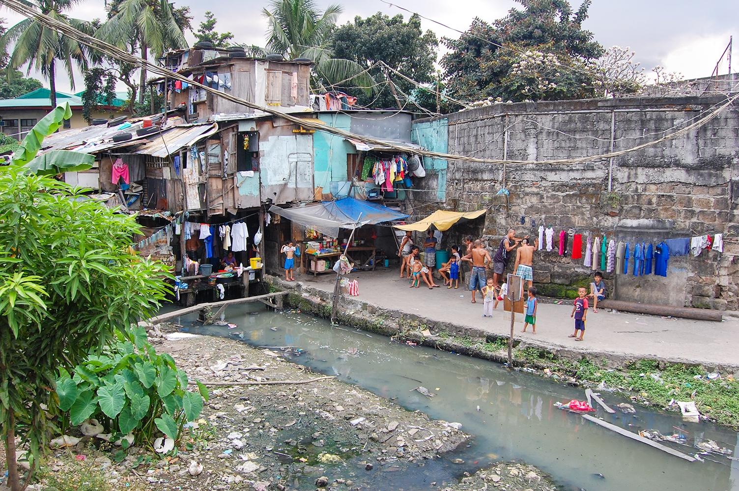 Sloppenwijk in Manilla